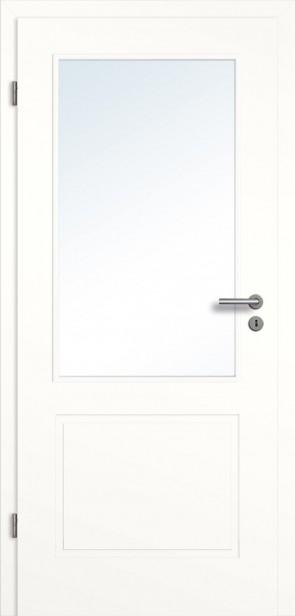 Lichtausschnitt Designtür mit Zarge Weiß (Modell Novum)