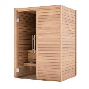 Sauna Bausatz aus Holz | Tiefe 1,20 m, Breite 1,50 m, Höhe 2,05 m