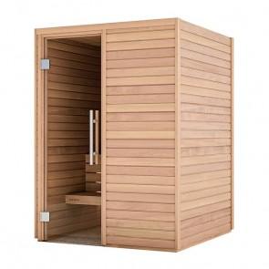 Sauna Bausatz aus Holz | Tiefe 1,50 m, Breite 1,50 m, Höhe 2,05 m