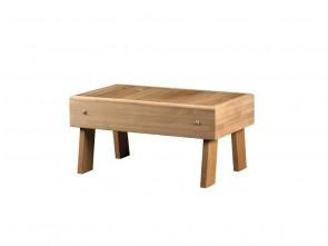 Saunahocker aus Holz | Länge 700 mm, Breite 400 mm, Höhe 350 mm