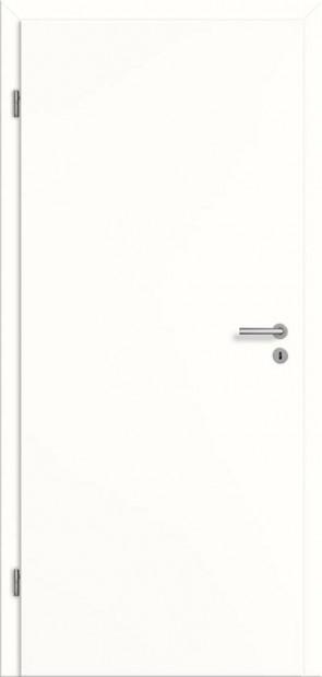 Schallschutztür Weißlack glatt