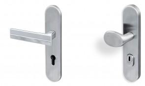 Schutzbeschlag Wohnungseingangstür Langschild Deluxx 33 mit Kernziehschutz