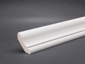 Wagner Fegeleiste Weiß lackiert 30 x 30 mm (Hartholz)