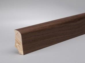 Sockelleisten Walnuss edelfurniert Standard-Profil (20 x 45 x 2700 mm)