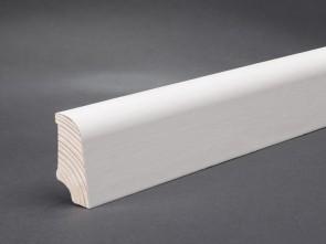 Sockelleisten weiß lackiert edelfurniert Standard-Profil (20 x 45 x 2700 mm)