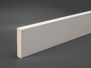 MDF Sockelleiste Weiß 60 mm x 12 mm Oberkante abgeschrägt