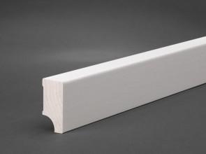 Sockelleisten weiß MDF / 40mm x 19mm Oberkante gerade