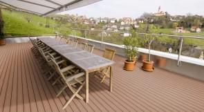 WPC Terrassen Komplett-Set (8m x 5m = 40m²) Dielen massiv