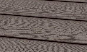 Terrassendiele WPC 22 x 143 mm massiv hellgrau sägerau fein