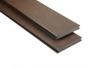 WPC Terrassendiele Kastanienbraun 20x145 mm Struktur / fein geriffelt