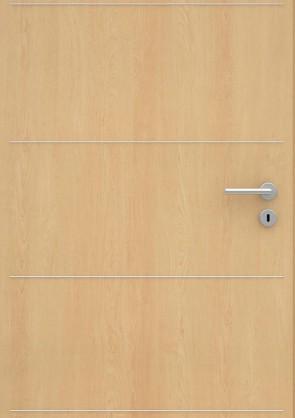 Ahorn CPL-Tür Muster mit Lisene L1