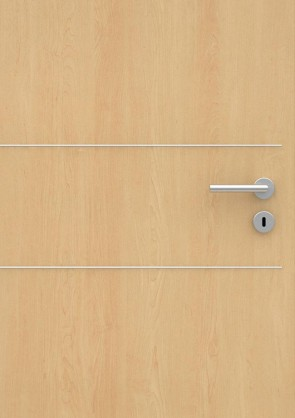 Ahorn CPL-Tür Muster mit Lisene L2