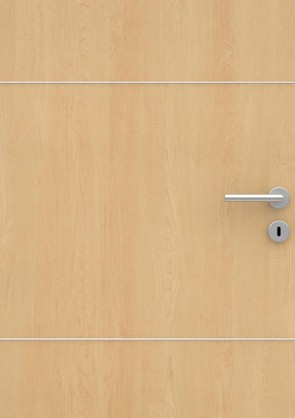 Ahorn CPL-Tür Muster mit Lisene L3
