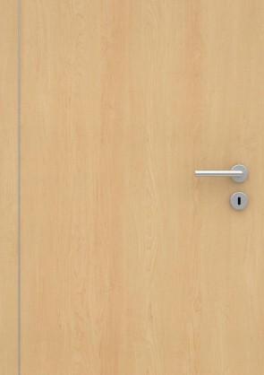 Ahorn CPL-Tür Muster mit Lisene L4