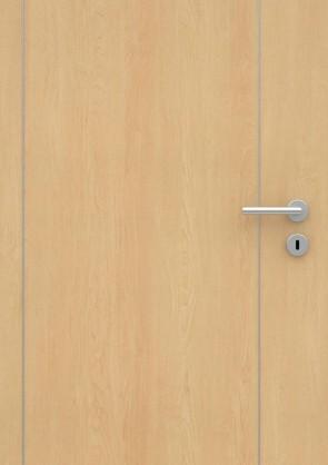 Ahorn CPL-Tür Muster mit Lisene L6