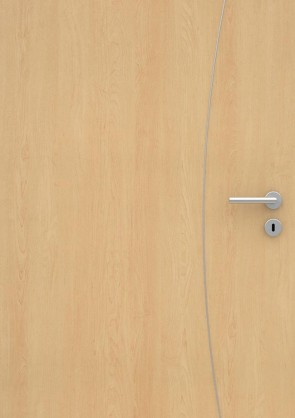 Ahorn CPL-Tür Muster mit Lisene L9