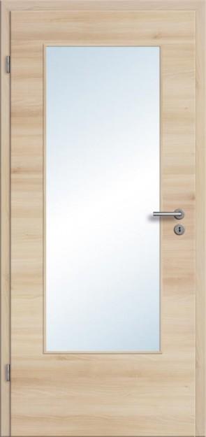 CPL Tür Akazie Lichtausschnitt DIN (Designkante)