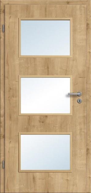 Türelement Eiche astig Lichtausschnitt 003 (längs), Zarge Designkante