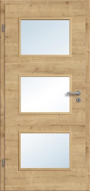 Türelement Eiche astig Lichtausschnitt 003 (quer), Zarge Designkante