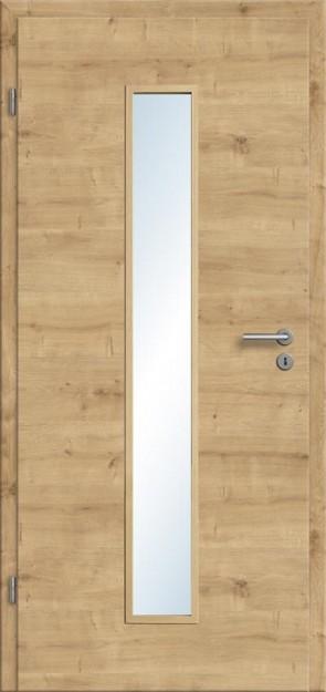 CPL Tür Eiche astig Lichtausschnitt 008M (Designkante)