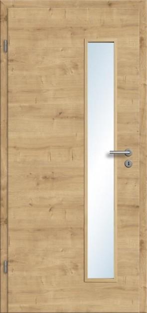 CPL Tür Eiche astig Lichtausschnitt 008S (Designkante)