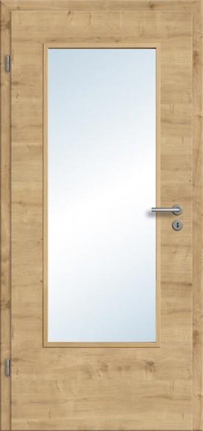 CPL Tür Eiche astig Lichtausschnitt DIN (Designkante)