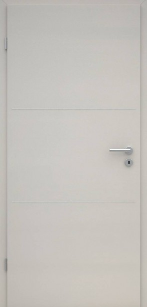 Tür CPL Uni Grau | Lisene L3