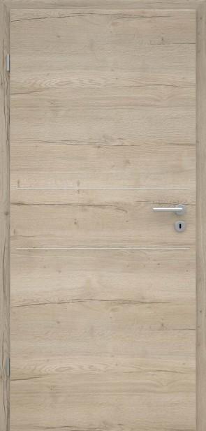 Tür Eiche Markant Sand quer | L2