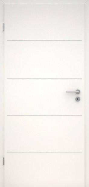 Tür CPL Uni Weiß | Lisene L1
