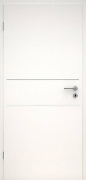 Tür CPL Uni Weiß | Lisene L2