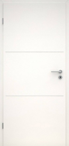 Tür CPL Uni Weiß | Lisene L3