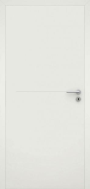 Tür flächenbündig Weiß L7 Chrom