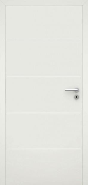 Tür flächenbündig Weiß L1 Chrom