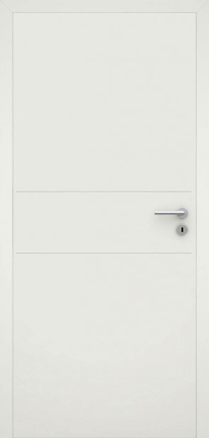 Stumpf einschlagende Tür Weiß L2