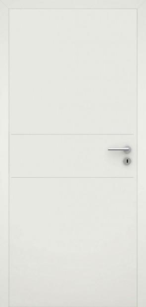 Tür flächenbündig Weiß L2 Chrom