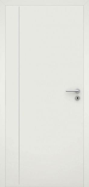 Tür flächenbündig Weiß L4 Chrom