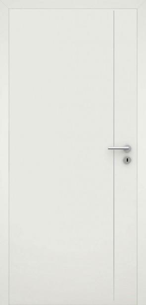 Tür flächenbündig Weiß L5 Chrom