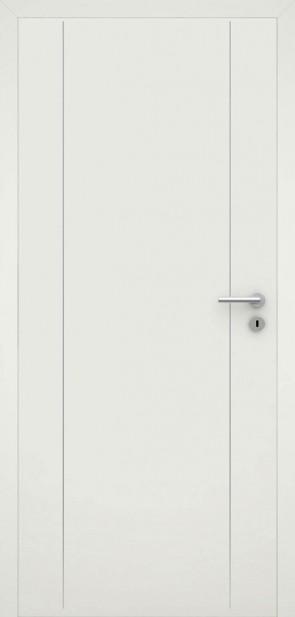 Tür flächenbündig Weiß L6 Chrom