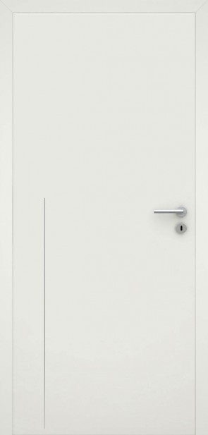 Tür flächenbündig Weiß L8 Chrom