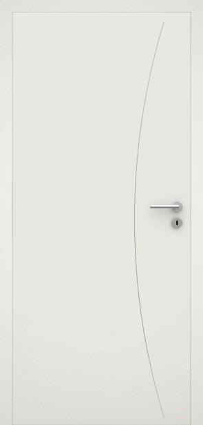 Tür flächenbündig Weiß L9 Chrom