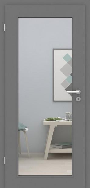 Tür mit Zarge Metallgrau LA XL | 198,5 & 211cm | Türblatt MDF, Zarge CPL
