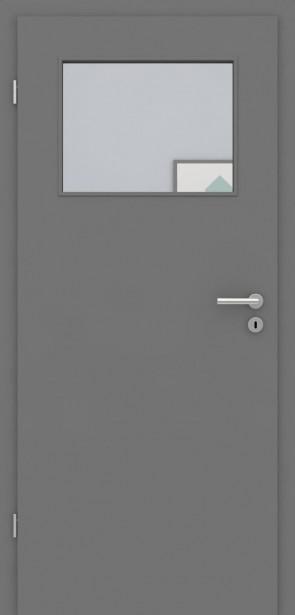 Tür mit Zarge Metallgrau LA 005 | 198,5 & 211cm | Türblatt MDF, Zarge CPL