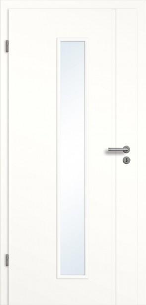 Weißlack Türelement (Lichtausschnitt) mit Längsrille