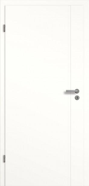 Weißlack Türelement (Tür+Zarge) mit Längsrille