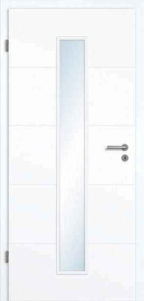 Weiße Rillentür Roma GA5 (LA 008M)