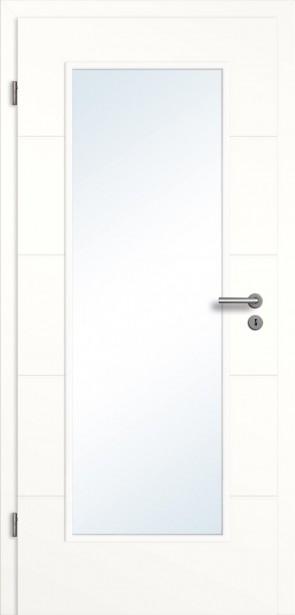 Weiße Tür 4 Rillen Lichtausschnitt