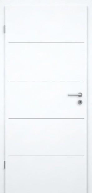 Tür Weißlack CPL | Lisene L1