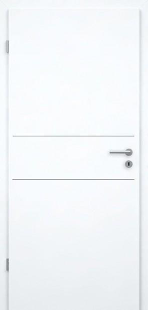 Tür Weißlack CPL | Lisene L2