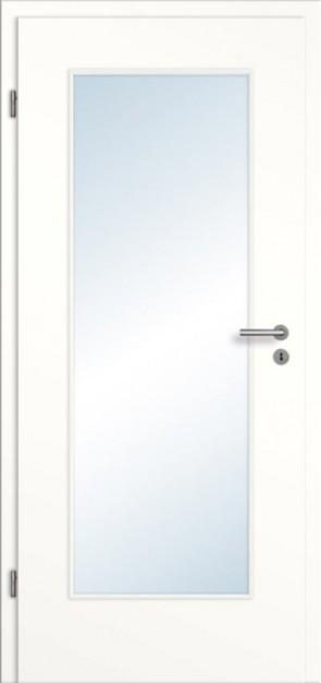 Türelement Weißlack mit Lichtausschnitt 001 glatt Bianco