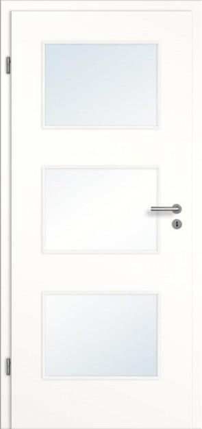 Türelement Weißlack mit Lichtausschnitt 003 glatt Bianco
